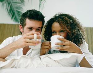 lekker koffie drinken